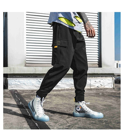 Cargo Color Block Harem Pants