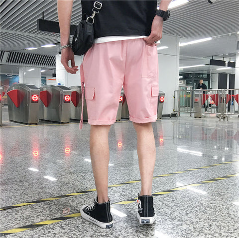 Hip Hop Casual Ribbons Shorts