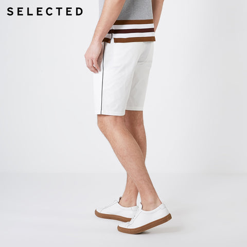 Straight Regular Fit Casual White Knee-high Shorts