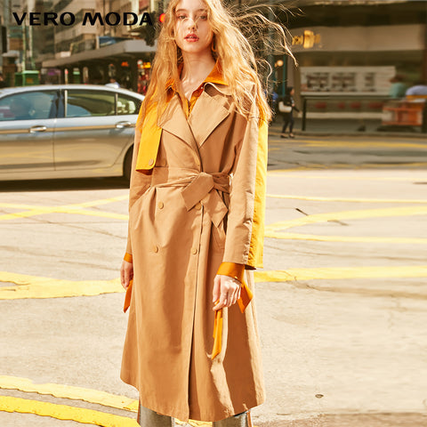 Lapel Assorted Colors Straight Fit Mid-length Trench Coat