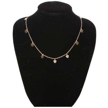 Natural Alloy Gold Star Pendant Necklace