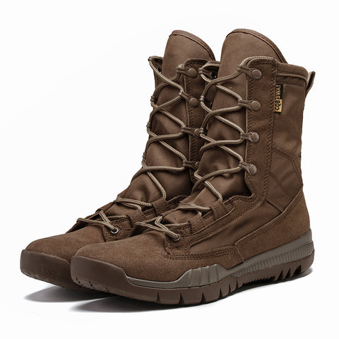 Military Tactical Black Brown Casual Solid Anti-Slip Casual Boots