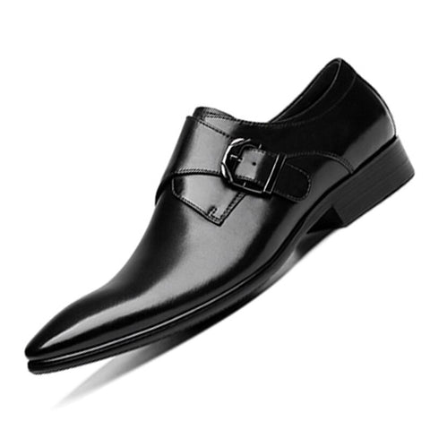Luxury Genuine Leather With Buckle Oxford Shoes