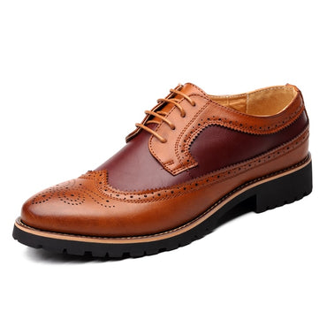 Brogues Lace-Up Bullock Oxford Shoes