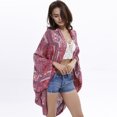 Seaside Aesthetic Vintage Lace Pattern Sun Protect Vogue Bohemian Jackets Coats