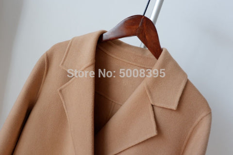 Camel Sleeves Front Double Breasted Lapel Collar Bohemian Jackets Coats