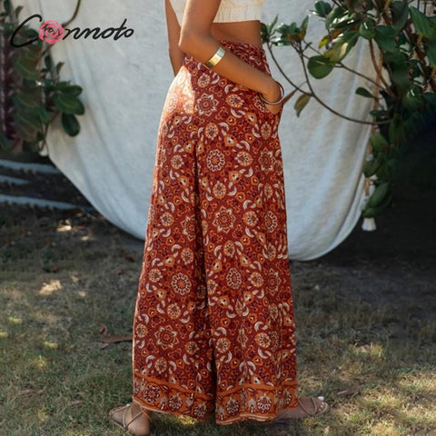 bow wide leg Boho Bohemian Pants