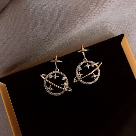 Crystal Star Sweet Simple Universal Earrings