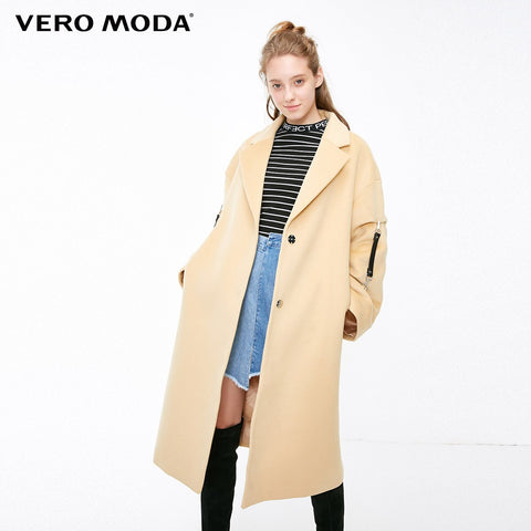 removable  Sleeve long coat