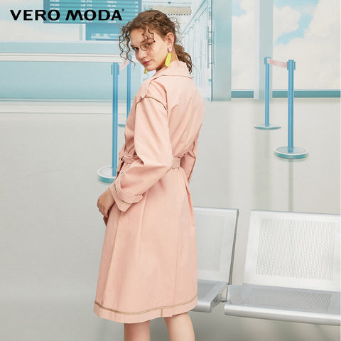 Slim Fit Lapel Collar Belted Trench Coat
