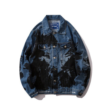 Vintage Blue Print Denim Jackets