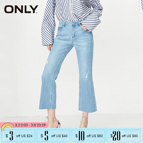 Low-waist  Printed Wide leg Jeans