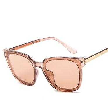 Alloy Oval Spectacles Small Frame Ocean Lens Sunglasses