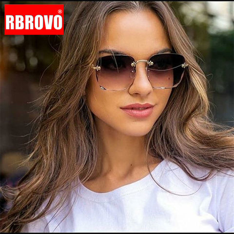 Rimless Retro Sunglasses