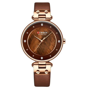 Rhinestones Luxury Leather Straps Waterproof Wrist Watch