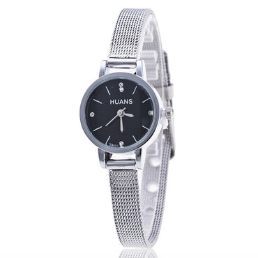 Silver Stainless Steel Mesh Band Wrist Watch