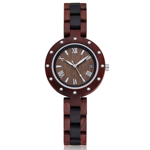 Natural Bracelet Rosewood Walnut Rose Charm Wood Watches