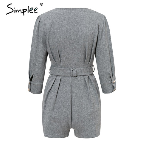 Buttons blazer Slash solid romper