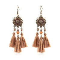 Ethnic Handmade Tassel Drop Earrings Boho Bohemian Accessories
