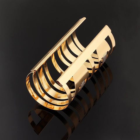 Hollow Wide Cuff Bracelets Bangles