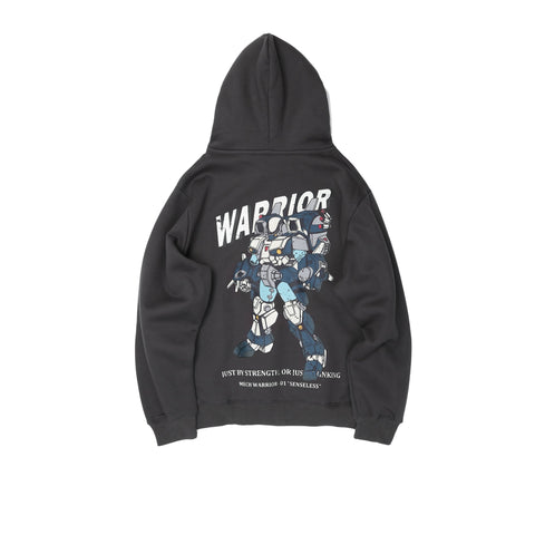 Cotton Warrior Print Hoodies