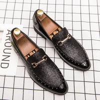Elegant High-End Custom Rhinestone Oxford Shoes