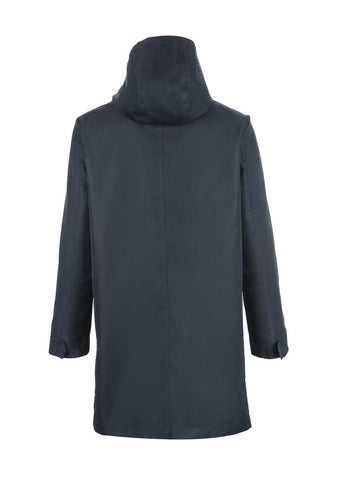 Hooded medium length windbreaker Trench Coat
