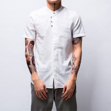 Thin Black White Short Sleeve Shirts