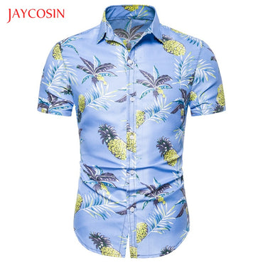 Printed Casual Short Sleeve Casual Slim Linen Short Sleeve Shirts