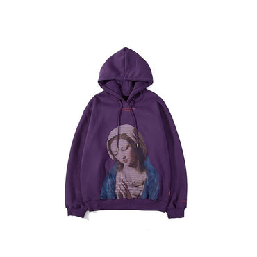Madonna In Prayer Painting Print Fleece Hoodie