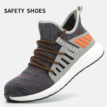 Safety Ultra-light Soft Bottom Breathable Anti-smashing Industrial Steel Sneakers & Shoes