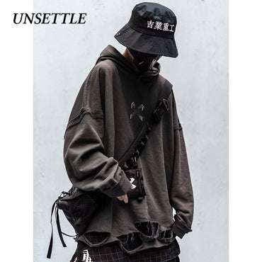 Hip Hop Tactical Hole Casual Hooded Hoodie