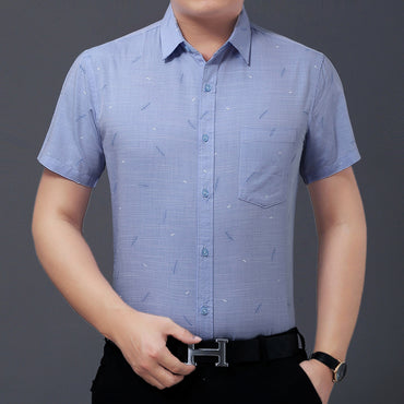 Business Smart Casual Slim Fit Cotton Short Sleeve Shirts