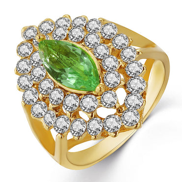 Green Horse Eye Gold Ring