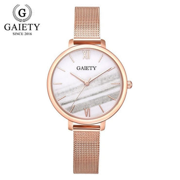 Gaiety Luxury Rose Gold Water Drill Bracelet Watch