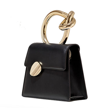 Casual Metal Handle Handbags