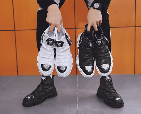 PU Leather Fashion Motorcycle Boots
