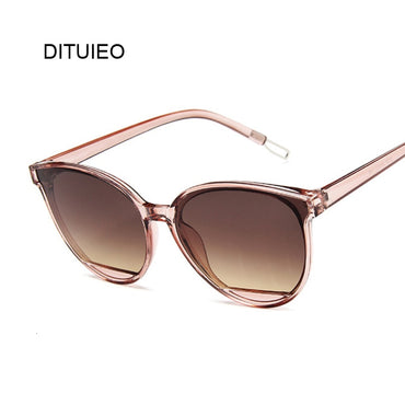 Classic Oval Red Vintage Luxury Plastic Sunglasses