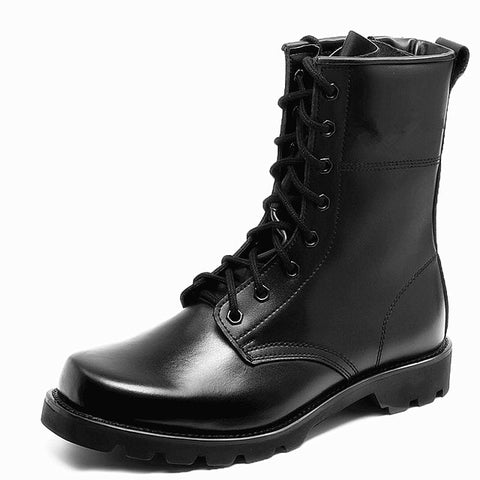 Army black leather Boots