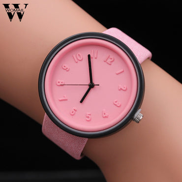 Bracelet Unisex Simple Canvas Belt Wrist Watch