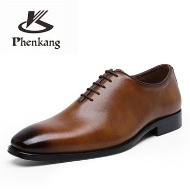 Genuine cow leather brogue Oxford Shoes