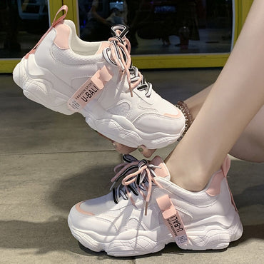 Chunky Pink Sneakers Shoes