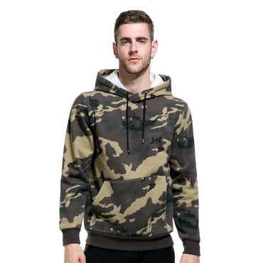 Military Pocket Army Green Camouflage Fleece Hoodie