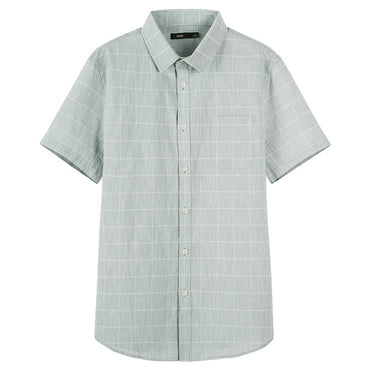 Solid Color Cotton Casual Short Sleeve Shirts