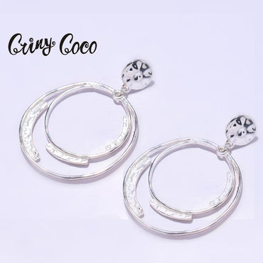 Alloy Circle Geometric Drop Earring