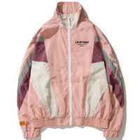 Reflective Vintage Windbreaker Patchwork Cargo Jacket