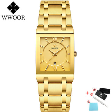 Luxury Factory Gold Black Square Quartz Watches