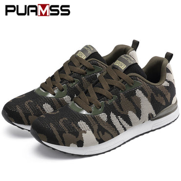 Casual Flyknit Camouflage Breathable Lightweight Anti-slip Shoes