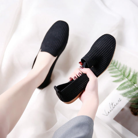 Breathable Knit Flat shoes