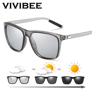 Color Change Grey Frame Polarized Sunglasses